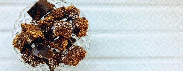Wegańskie i bezglutenowe chrupki czekoladowe.
