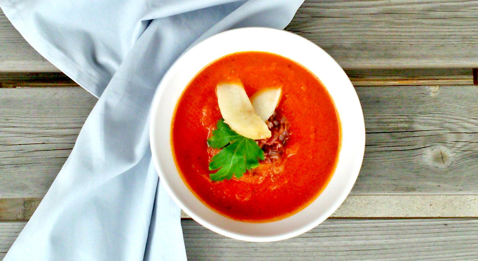 Zupa pomidorowa z gruszką
